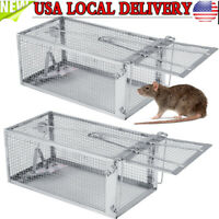 1/2Pcs Rat Trap Cage Live Animal Pest Rodent Mouse Control Catch Hunting Trap