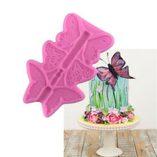 Butterfly Fondant Silicone Mold Cake Decor Baking Clay Gumpaste Chocolate Mould~