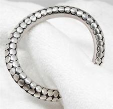 Novica BALI Sterling Snake Scale Asymmetric Curved Cuff Bracelet