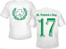 St. Patricks Día Camiseta - Trébol Motivo - Blanco/Verde - 17.März Irlanda 17.3