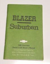 1980 CHEVROLET BLAZER & SUBURBAN OWNERS MANUAL OPERATORS USER GUIDE BOOK OEM