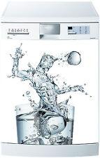 Sticker lave vaisselle déco cuisine électroménager verre d'eau réf 674 60x60cm