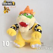 "New Super Mario Bros. Plush Bowser Koopa Soft Toy Stuffed Animal Doll 10"""