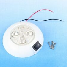 New 12V Warm White 100mm 18 LED Dome Light for Cabin Boats Caravans