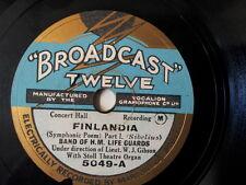 """78 rpm 10"""" BAND OF H M LIFE GUARDS Finlandia / Finlandi"""