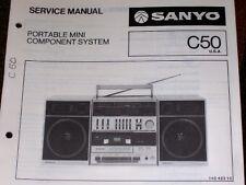 Sanyo C50 Radio Cassette Recorder Service/Parts Manual