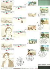 ITALIA 9 BUSTE FILAGRANO 50° II GUERRA MONDIALI ANZIO CAGLIARI FIRENZE MARINA EC