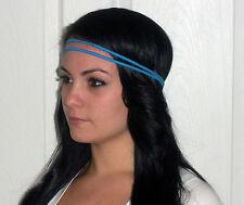 Lot 12 Braided double 2 strand thin headband stretch elastic hair band braid