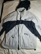 Billabong Bulletproof Outerwear White/Black Large Insulated Snow Jacket.