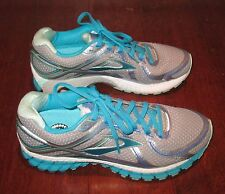 Brooks Run Happy Running Tennis Shoes Silver Blue Women's Size 9.5 EUC