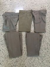 Lof Of 5 Cherokee And Chaps Boys Pants Size 8 Kids Khaki Uniform Pants Euc