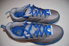 Mens GRAY & BLUE STARTER RUNNING SHOES Athletic LIGHTWEIGHT Breathable Mesh 8.5