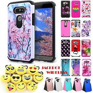 For LG G5 Hybrid Rugged Shockproof Rubber Dual Layer Hard Protective Case Cover