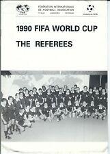 1990 FIFA World Cup Italia Referee Media Guide, soccer