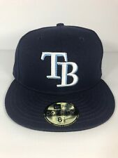 MLB Tampa Bay Rays New Era 9/11 memorial patch 59FIFTY Fitted Hat size 6 7/8
