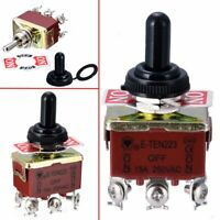 Toggle Switch 6 Pins 3 Position Momentary (ON)-OFF-(ON) Waterproof Cap Tool
