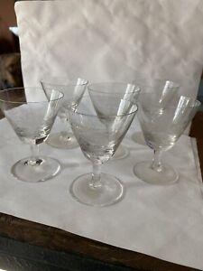 Rosenthal Crystal Cordial Glasses - 6 - Shadow Rose