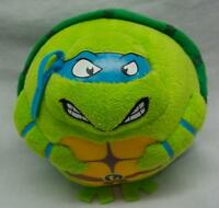 "TY Beanie Ballz Ninja Turtles LEONARDO 4"" Plush BALL STUFFED ANIMAL TOY"