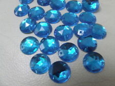 Acrylic Blue 12 - 12.9 mm Size Jewellery Making Craft Beads