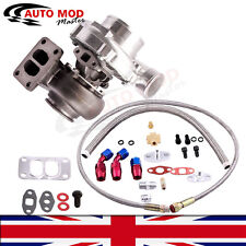 T70 universal Turbo charger T3 Flange w/ Oil inlet outlet feed return lines kit