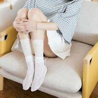 1Pair Women Girl Hollow Floral Lace Fish Net Mesh Ruffle Frilly Ankle Socks Gift