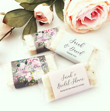 60 PERSONALIZED Mini Soaps Bridal Shower Wedding Favors