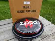 Zippo Lighter Oval Light-Up Electric Sign Lighted With Original Box