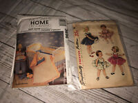 Vintage McCall 1072 Simplicity 3696  Sewing Patterns Baby Room Blanket Clothes