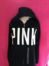 NWT VICTORIA'S SECRET PINK  COLLECTION BLACK HOODIE SIZE SMALL