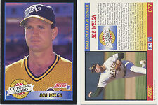 Lot of 12 Bob Welch Cy Young award winner, Score 91 #877 MLB Baseball cards NM/M