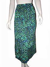 LEMON GRASS Womens Small Multi Color Green Crushed Skirt