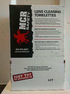 MCR Safety Ken's Cleaning Towelettes 100 of them in package.