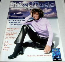 Sheet Music Magazine ~ Whitney Houston Cover ~ March / April 1997 Back Issue