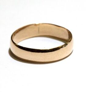 10k rose gold thin infant childs band ring .9g size 1 3/4 unique small