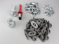 Oval Einschlagstempel Locheisen 42x22 mm  + 50 Ösen Nickel + 50 Drehverschluß