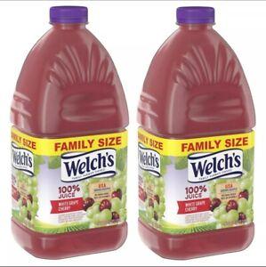 (2 Pack) Welch's 100% White Grape Cherry Juice, 96 Fl Oz Bottle