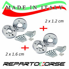 KIT 4 DISTANZIALI 12+16MM REPARTOCORSE PEUGEOT 206 CERCHI ORIGINALI M. IN ITALY