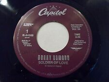 Donny Osmond Soldier Of Love / My Secret Touch 45 1989 Capitol Vinyl Record
