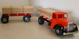 1949 Smith Miller L Mack Lumber Truck w/ Pup Lumber & Chains PROFESIONAL REPAINT