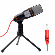 Computer Microphone Professional 3.5mm Jack Wired With Stand Tripod Handheld