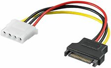 Adaptateur Molex Femelle 4 PIN  vers SATA 15 PIN Cable Male Alimentation