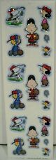 Sandylion Peanuts Snoopy Charlie Brown Lucy Schroeder Woodstock Baseball Sticker