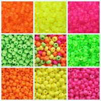 CHOOSE COLOR! 20g 6/0 (4.1mm) NEON Seed Beads Preciosa Ornela Czech Glass