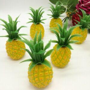 Artificial Mini Pineapple Plastic Decorative Fruit Yellow Pineapples Fake
