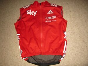 """Team GB Great Britain British Cycling Adidas cycling jersey/gilet XS/38"""" Unused"""