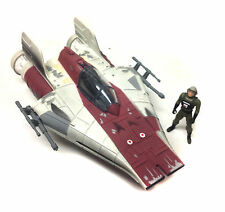 STAR WARS Original Trilogy A WING fighter ship vehicle for toy figures + box