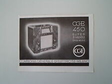 advertising Pubblicità 1936 RADIO CGE 450 SUPER 5 VALVOLE