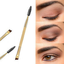 Wholesale 1PCS Makeup Bamboo Handle Double Eyebrow Brush + Eyebrow Comb