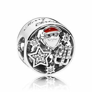 NEW Genuine Pandora Christmas Joy Charm 796364CZ Red Merry Festive Santa Star