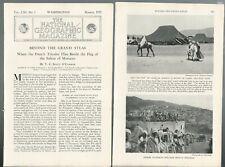1932 MOROCCO magazine articles, Natives, French control etc, Color photos